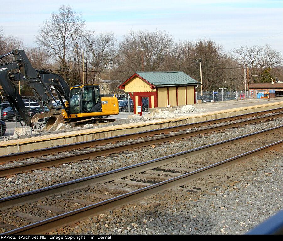 Yardley low level platform dismantling